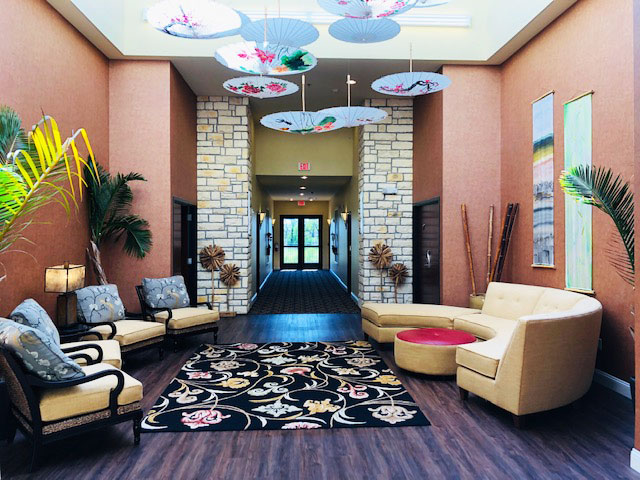 lovely colorful atrium with sitting area - Bel Aire Recovery Center