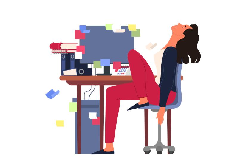 Lady at Desk - Burnout