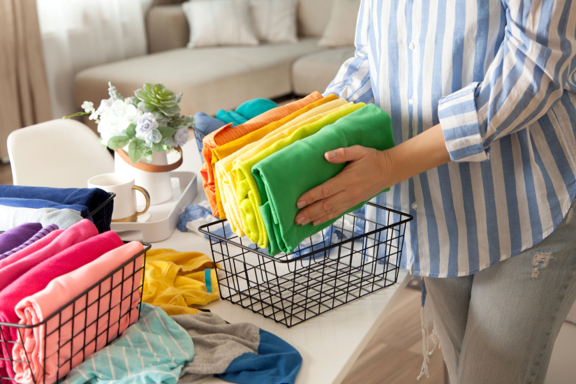 Woman Organizing - cleanliness