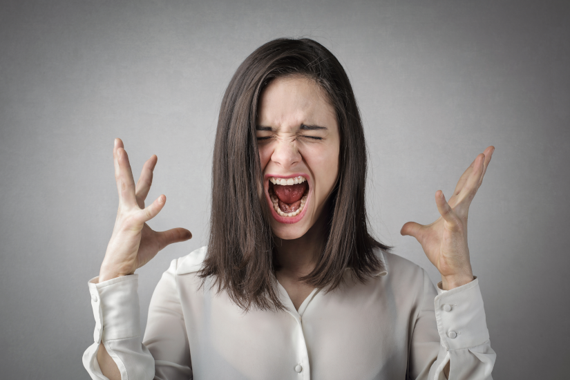Lady Yelling - Angry